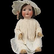 "Huge Bahr and Proschild 383 Antique Bisque Baby Doll Flirty Eyes! 25"""