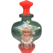 SOLD Liddle Kiddle Lily of the Valley Kologne Kiddle Near mint in bottle with Stand