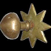 SOLD Star Shaped Brass Doorknob