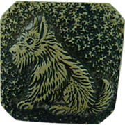Vintage Scottie Dog Button