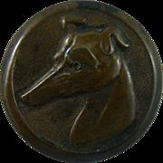 Antique Sporting brass Greyhound Button