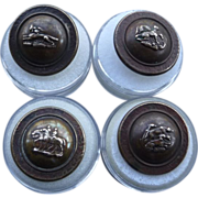 A set of Four Victorian Brass Sporting Buttons