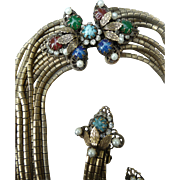 Exceptional Vintage Hobe Necklace and Earrings