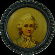 SALE Rare 1800's French Lithograph Button