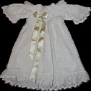 Antique lace dress for bebe Jumeau 1895/1900