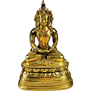 SALE High Quality Qing Dynasty Mongolian (Chinese) gilt bronze buddha, school of Zanabazar!