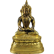 SALE Qing Dynasty Mongolian (Chinese) gilt bronze buddha, school of Zanabazar!