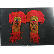 SOLD Pair of exceptional Pre Columbian Moche Weavings - textile!