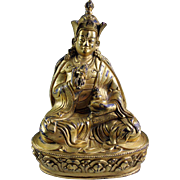 Superb Chinese / Tibetan gilt bronze Buddha figure, Qing