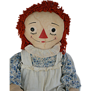Rare 45 inch Georgene Raggedy Ann all original and tagged.