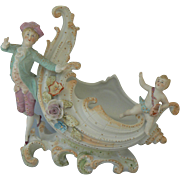Vintage German Shell Figurine with Valentines Cupid on it too. Must see.