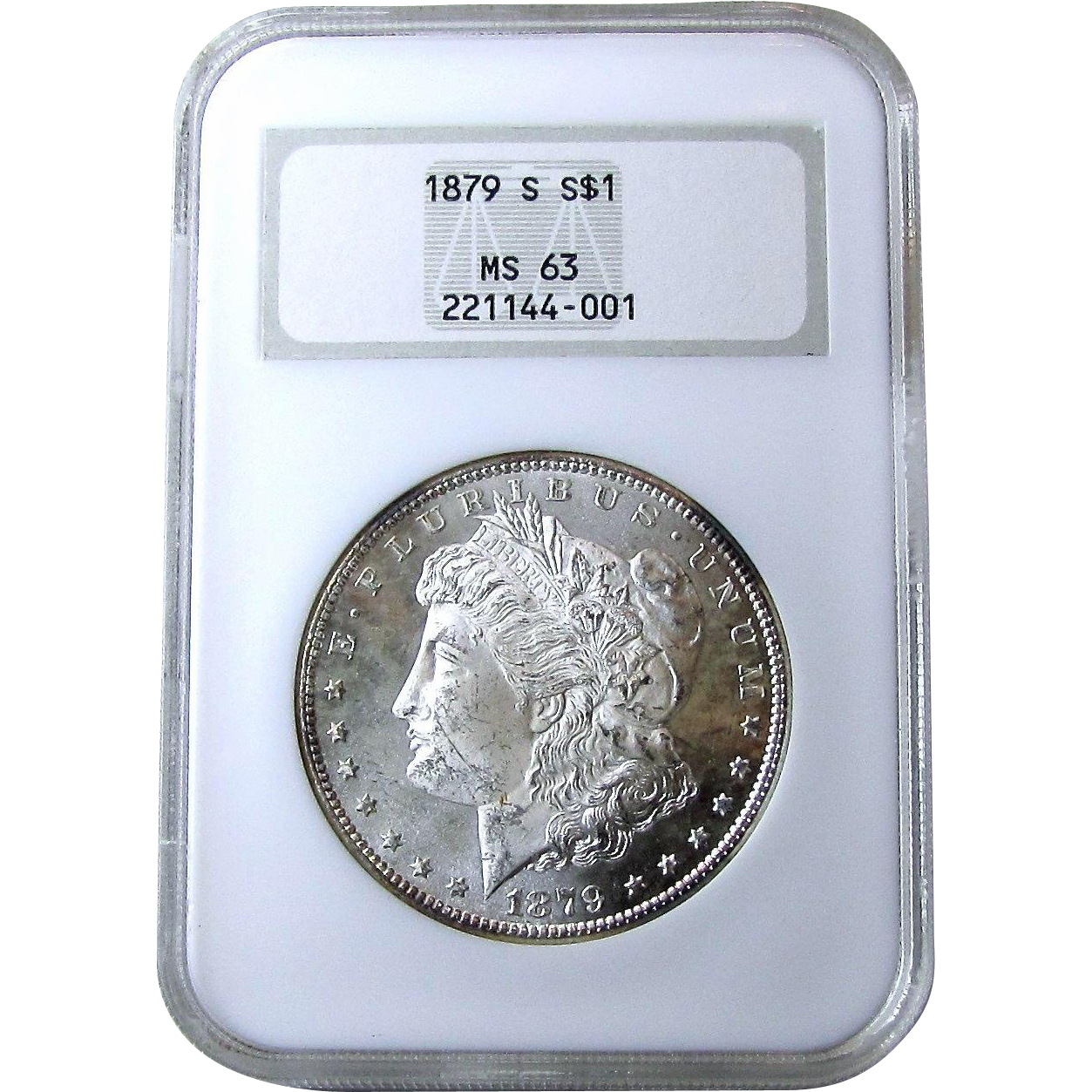 1879-S Morgan Silver Dollar NGC MS-63 Old Fatty Holder