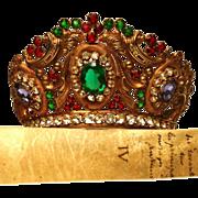 Impressive Antique 19th Century Diadem Jeweled Santos Madonna Diadem Crown