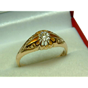 SALE PENDING Superb Quality Edwardian Chester 1907  18ct Solid Gold Diamond Solitaire Gemstone