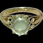SALE PENDING Decorative Chester 1920  9ct Rose Gold 'Cushion Shaped' Moonstone Gemstone ...