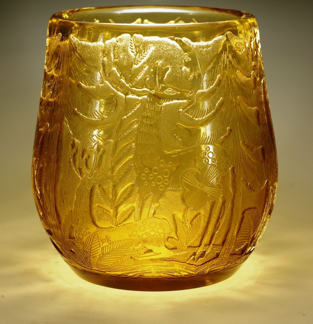 Moser Signed Heinrich Hussmann Cameo Glass Vase Very Rare From Glasscollectordotnet On Ruby Lane