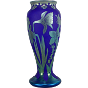 SOLD Stunning Early Orient & Flume Cameo Glass Vase