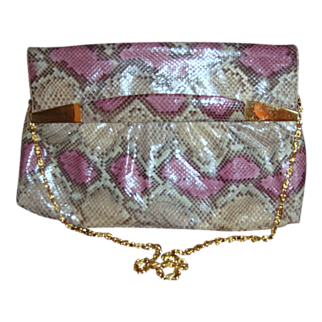 1970's Python Snakeskin Purse Bags By Supreme