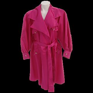 Lillie Rubin Coat Schiaparelli Shocking Pink