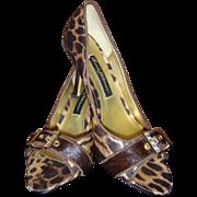 Leopard Heels Designer Vintage