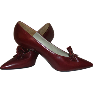 Charles Jourdan 50s Stiletto Heels Tiny Vintage Collectors Shoes
