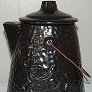 American Bisque Hammered Finish Coffee Pot Cookies Jar