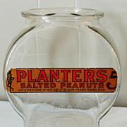 Planters Salted Peanuts Store Display Jar