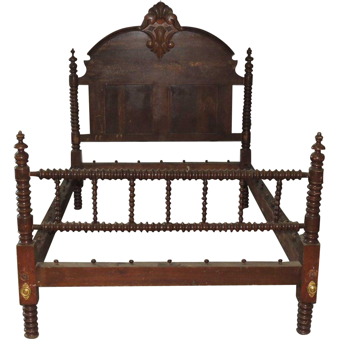 Antique Jenny Lind Spool Rope Bed From Conjunktionjunktionantiques On Ruby Lane