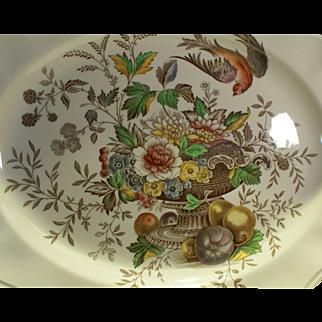 Royal Doulton Polychrome Transferware Platter in Hampshire Pattern