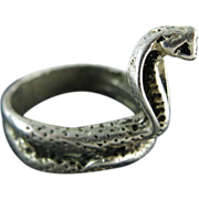 Vintage Mexican 800 Silver Cobra Ring Size 12 3/4