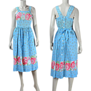 1940's Floral Printed Cotton Sundress