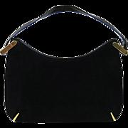 1960's Susan Gail Black Suede Handbag