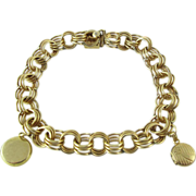 Vintage 12K Gold - Filled Charm Bracelet With Two Photo Locket Charms