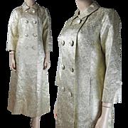 1960's Lamé / Lame Damask Evening Coat