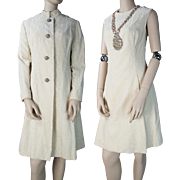 1960's Vintage Malcolm Starr Voided Velvet Shift Dress With Rhinestone Embellished Neckline An
