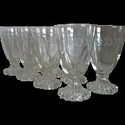SALE 8 Laurel Iced Tea Goblets by Anchor Hocking