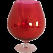 Cranberry ~ Ruby Centerpiece Bowl ~ Vase