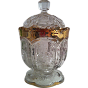 SALE Eapg Frost Crystal Sugar with Lid by Tarentum