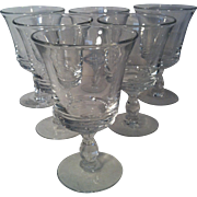 6 Century Water Goblets by Fostoria