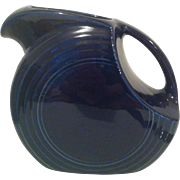Cobalt Blue Fiesta Disk Water Pitcher