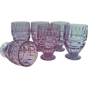SALE Alexandrite Fostoria Hermitage Wisteria Footed Juice Tumblers set of 6