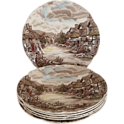 SALE Round Salad Plate Olde English Countryside by Johnson Brothers