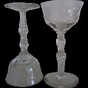 SALE Set of 6 Salon Liquor Cocktail Stems Libbey Rock Sharpe