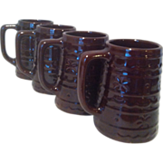 4 Beer Stein / Mug Dot & Daisy by Marcrest