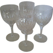 "SALE 4 Stuart Crystal ""Kent"" Wine Glasses"