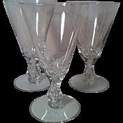 """3 Seneca Crystal """" Maytime """" # 164 Iced Tea Glasses"""