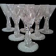6 Seneca Crystal Maytime #164 Wine Glasses