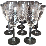 10 Beaufort Water Goblets by Tiffin #17407