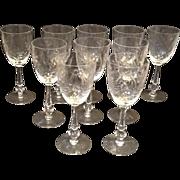 SALE 10 Tiffin Fleurette Water Goblets #17406