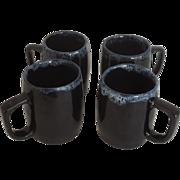 SALE Four Van Briggle Drip Glaze Mugs
